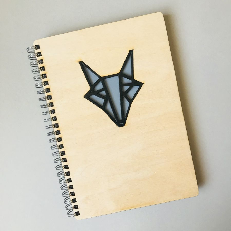 Dřevěný zápisník A5 – Liška