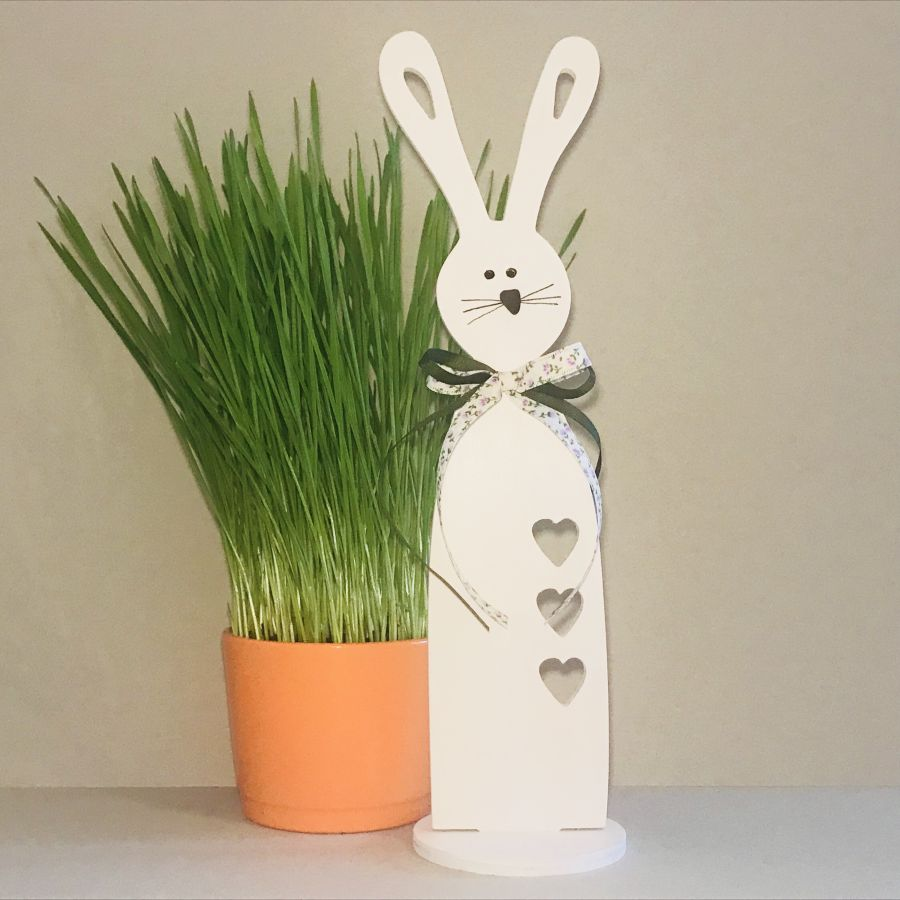 Velikonoční zajíček štíhlý – vykrojená srdce